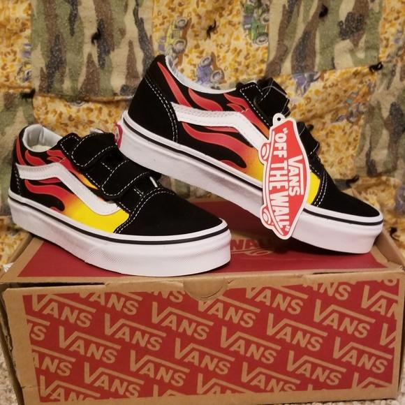 Vans Old Skool Flame Kids Skate Shoes